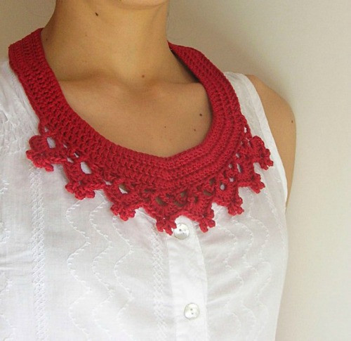 Crochet Collar Pattern Unique Wear Red Day Roundup Of 10 Free Crochet Jewelry Patterns Of Top 40 Pics Crochet Collar Pattern
