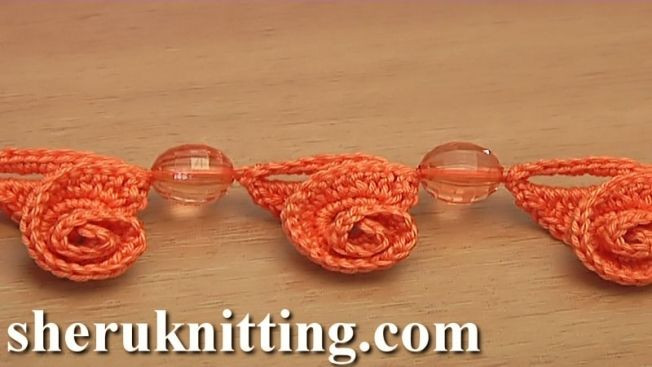 Crochet 3D Decoration Cord Tutorial 144