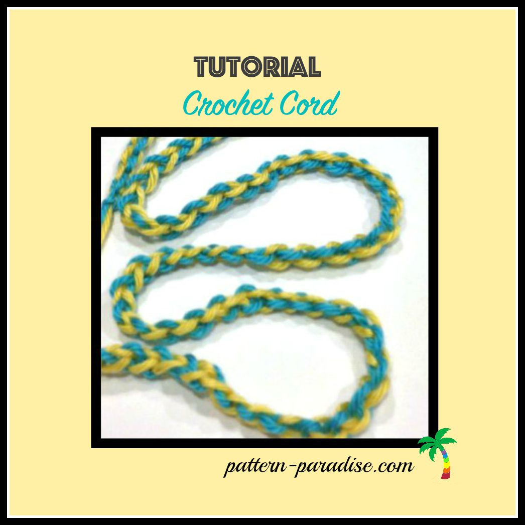 Tutorial Crochet Cord With Two Colors