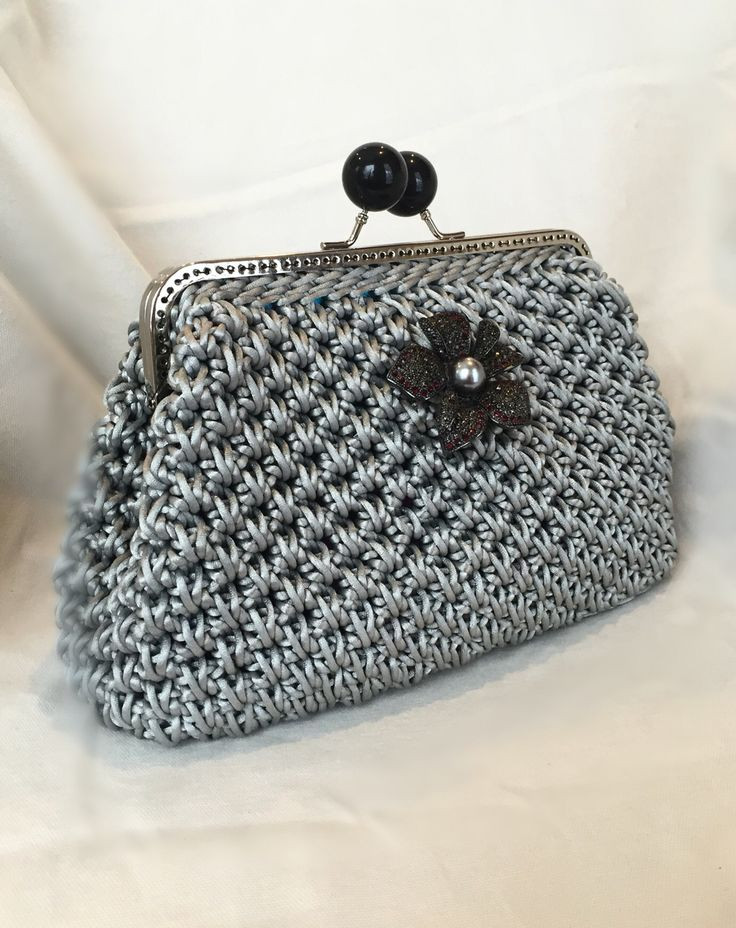 Crochet Cording Luxury Silver Nylon Cord Clutch Handmade Crochet by Caitihandmade Of Marvelous 43 Images Crochet Cording