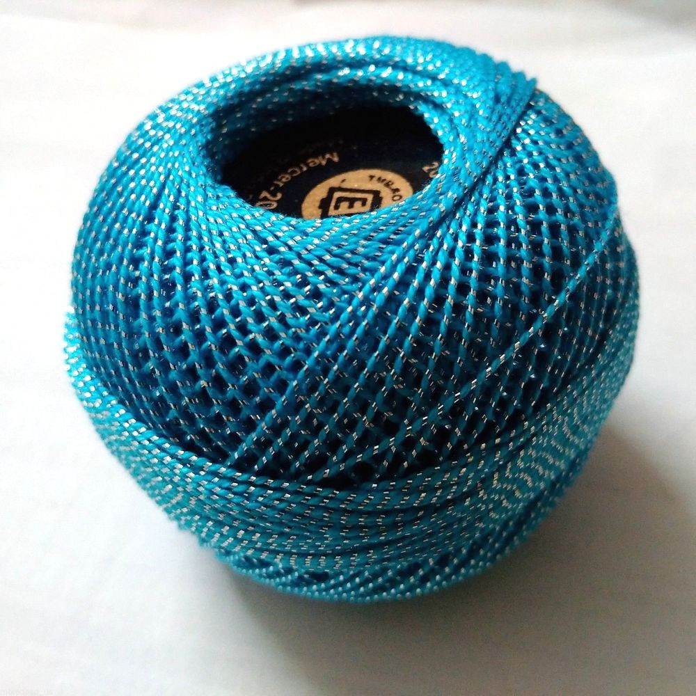Crochet Cotton Fresh Turquoise & Silver Lurex 20 Gm Cotton Yarn Thread Of Contemporary 41 Ideas Crochet Cotton