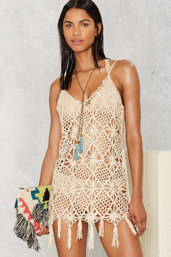 Crochet cover up PATTERN trendy beach cover up PATTERN