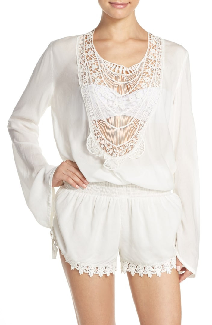 Crochet Cover Up Elegant Elan Crochet Inset Cover Up Romper Of Adorable 40 Pictures Crochet Cover Up