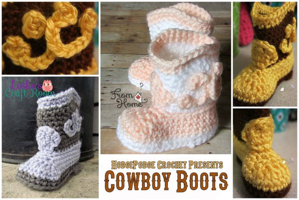 Crochet Cowboy Boots Awesome Free Crochet Pattern Cowboy Boots – Make It Crochet Of Marvelous 49 Pictures Crochet Cowboy Boots