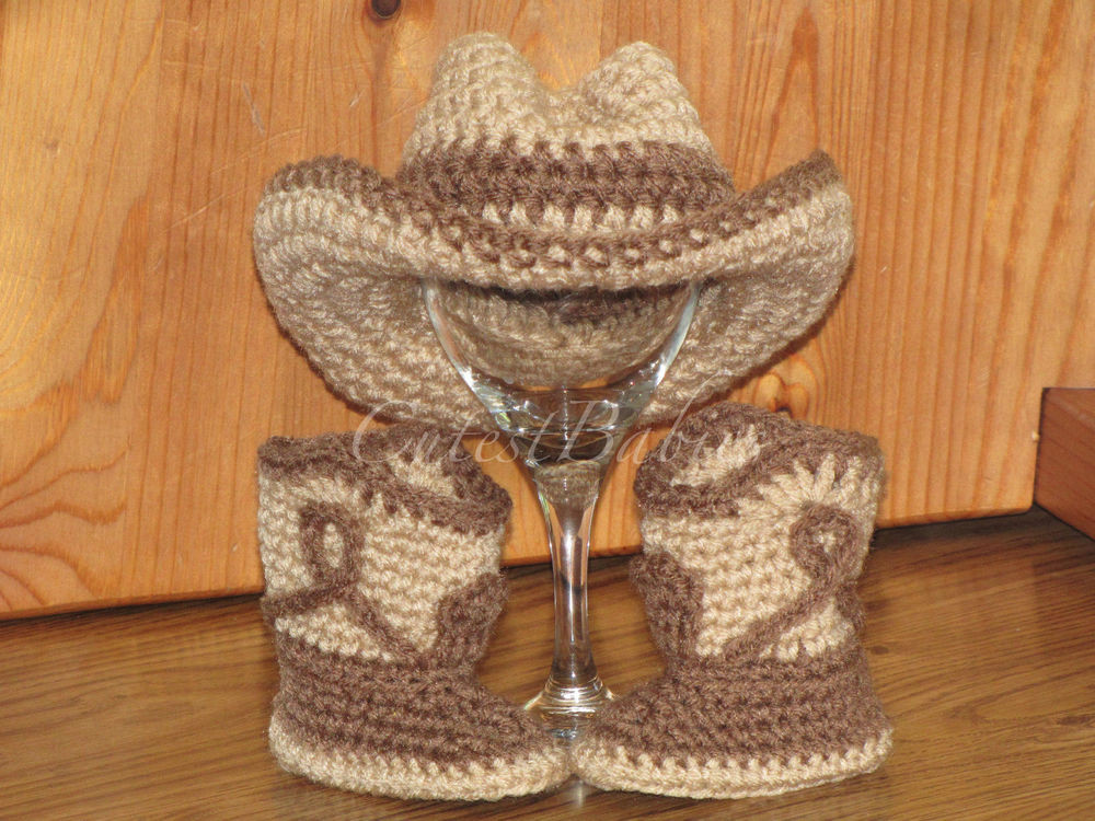 Crochet Cowboy Boots Best Of Newborn Baby Crochet Cowboy Cowgirl Hat & Boots Of Marvelous 49 Pictures Crochet Cowboy Boots