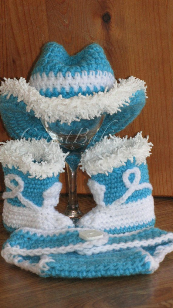 Crochet Cowboy Boots Fresh Newborn Baby Crochet Cowboy Cowgirl Hat Boots & Diaper Cover Of Marvelous 49 Pictures Crochet Cowboy Boots