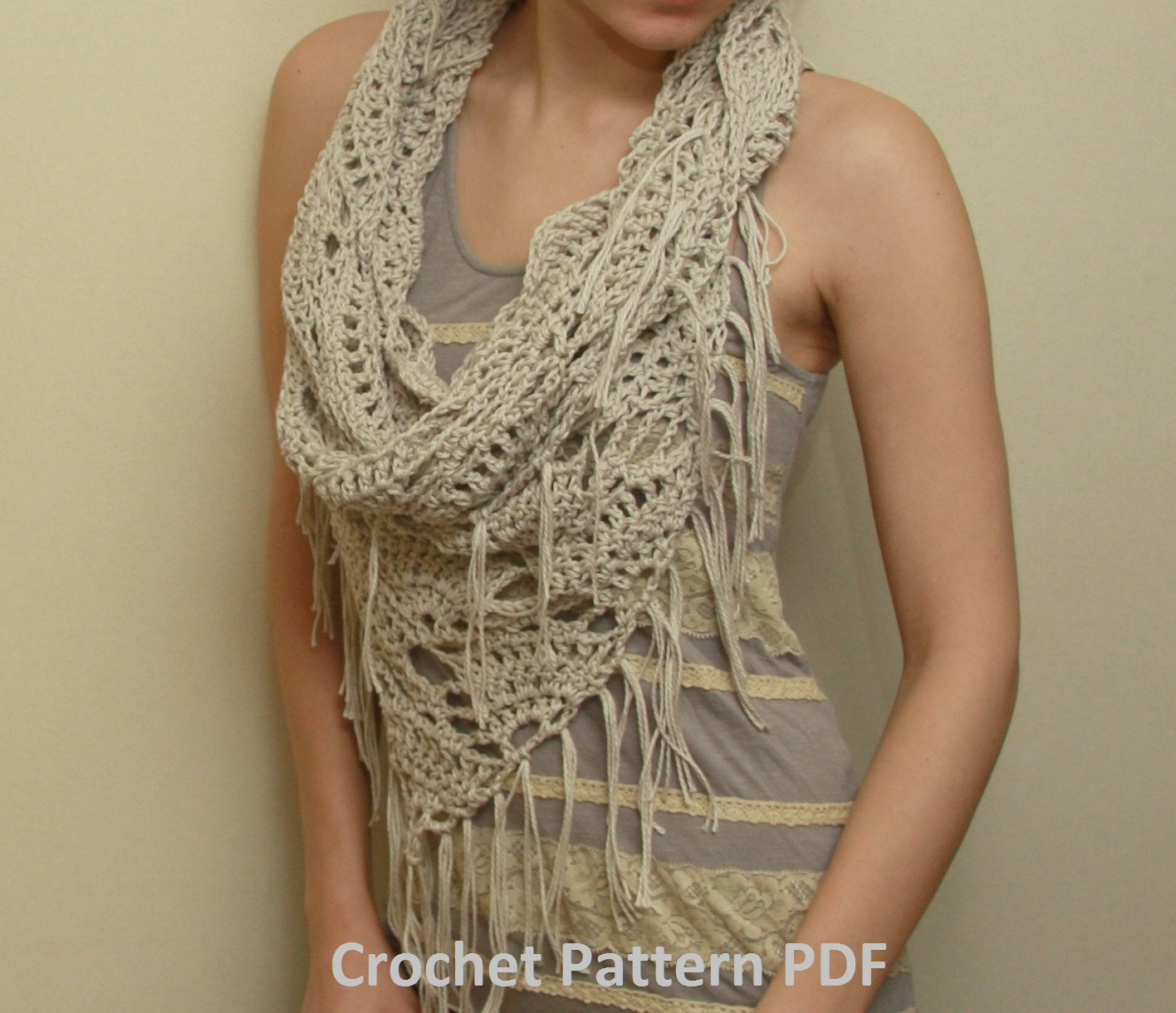 Triangle Infinity Scarf Crochet Pattern images