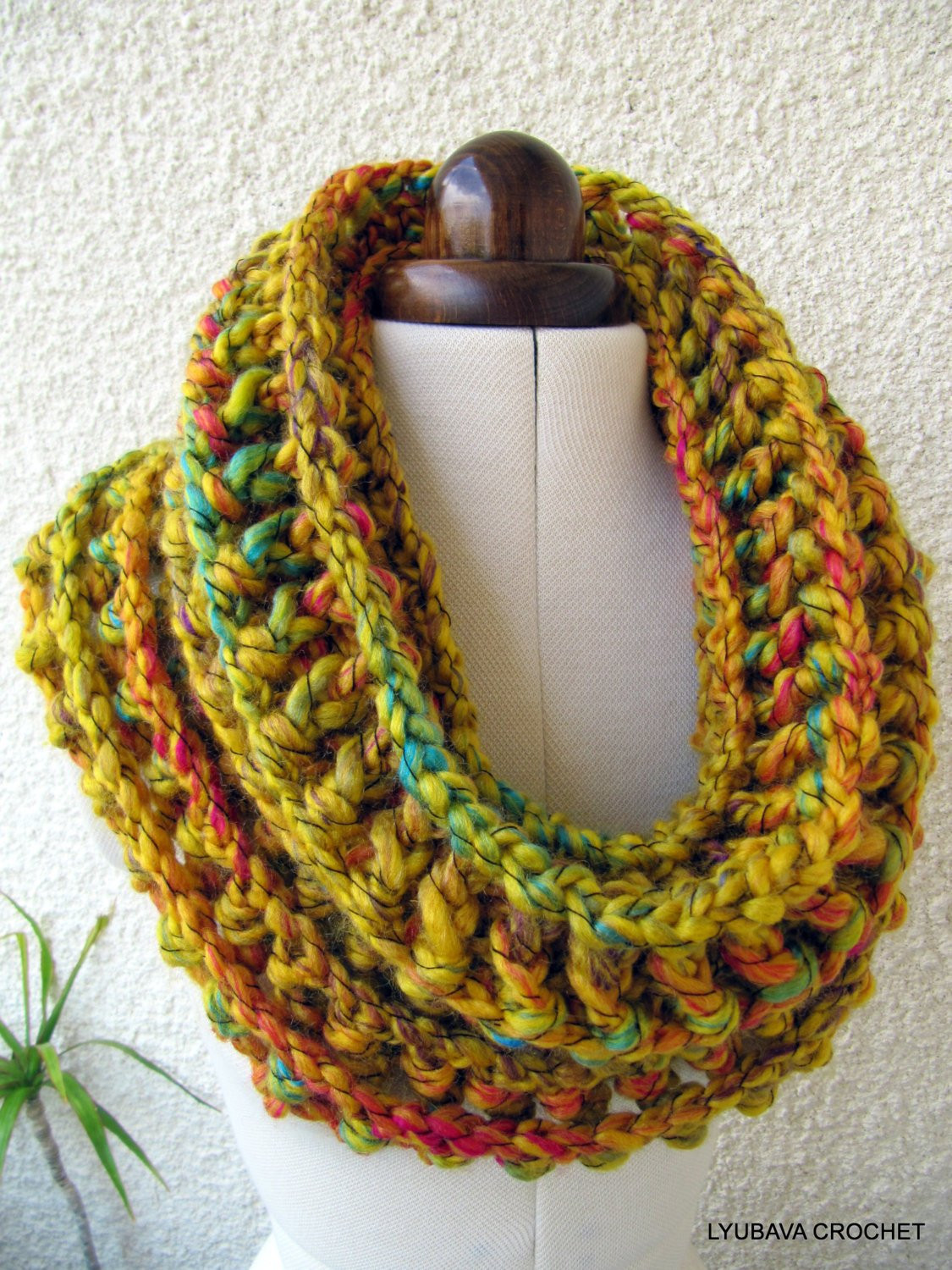 Crochet Cowl Scarf Inspirational Crochet Cowl Pattern Mustard Cowl Chunky Scarf Fast Easy Of Awesome 42 Pics Crochet Cowl Scarf