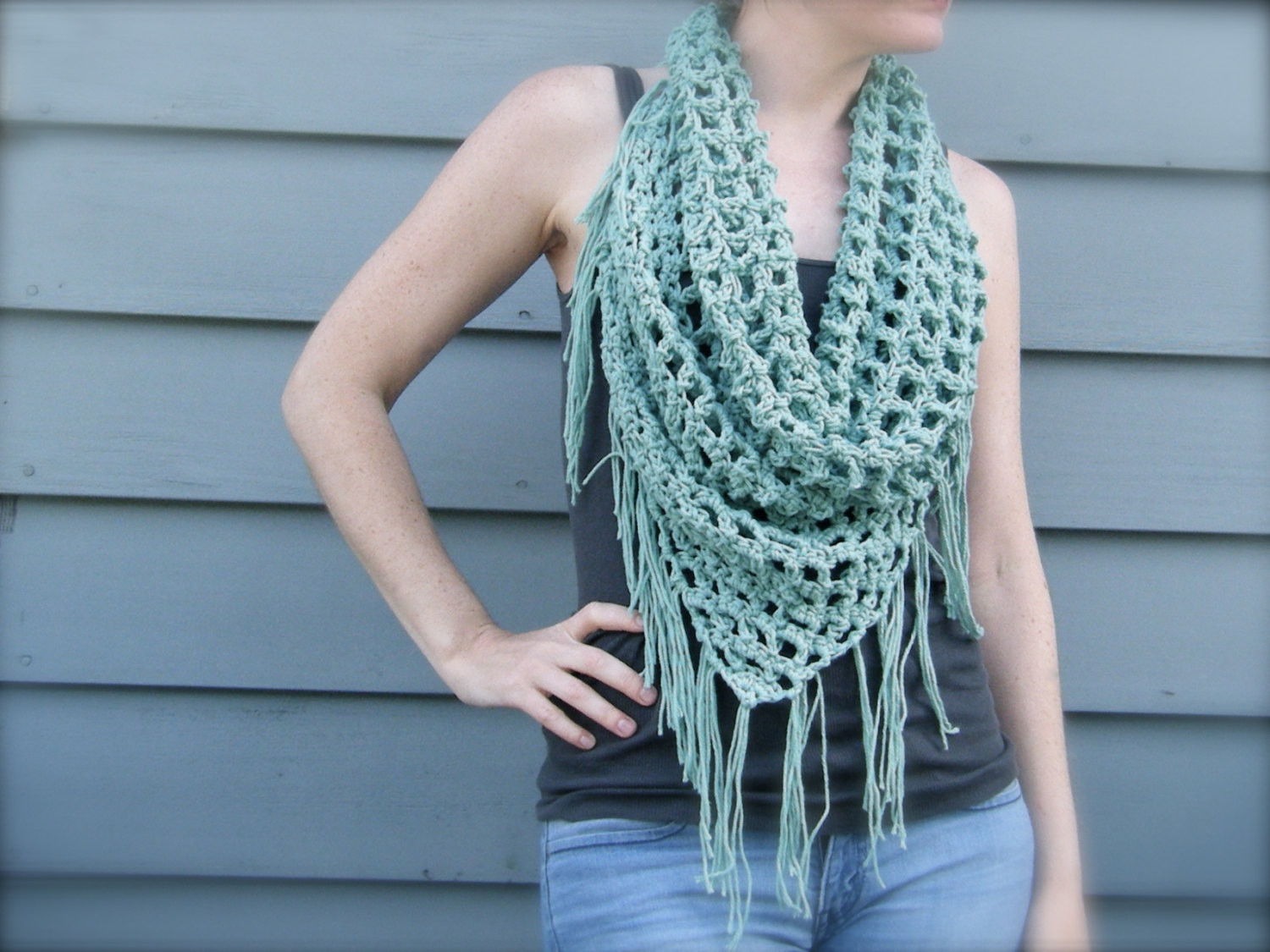 Crochet Cowl Scarf Inspirational Crochet Fringe Cowl Neck Scarf Pattern Of Awesome 42 Pics Crochet Cowl Scarf