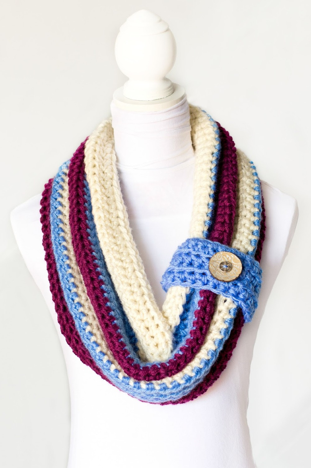 Crochet Cowl Scarf Luxury Varsity button Scarf Of Awesome 42 Pics Crochet Cowl Scarf