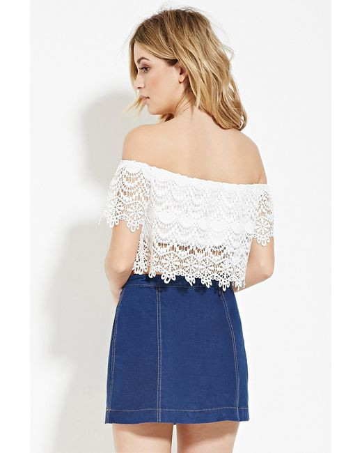 Crochet Crop top forever 21 Awesome forever 21 Crochet Crop top In White Ivory Of Innovative 40 Images Crochet Crop top forever 21