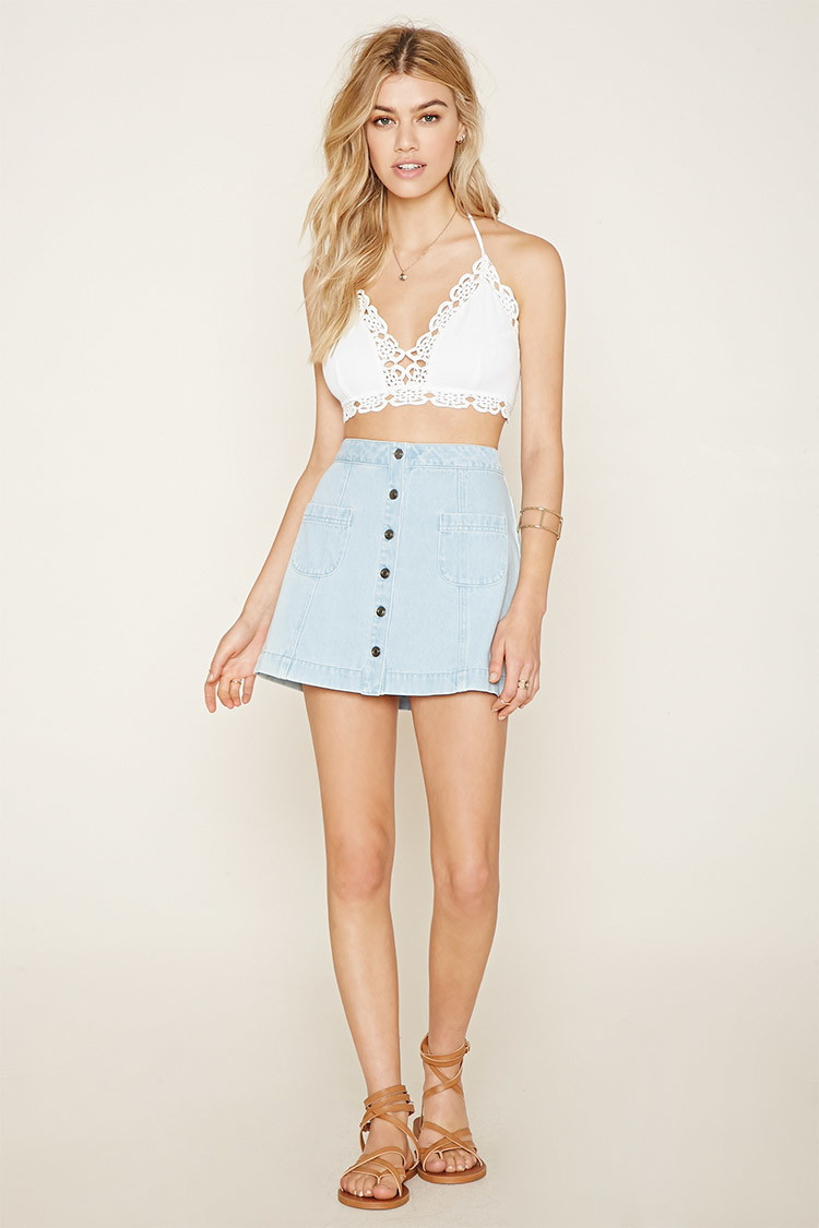 Crochet Crop top forever 21 Beautiful forever 21 Crochet Crop top In Blue Of Innovative 40 Images Crochet Crop top forever 21