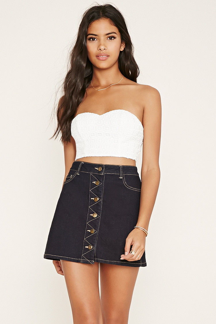 Crochet Crop top forever 21 Fresh forever 21 Square Pattern Crochet Crop top In White Of Innovative 40 Images Crochet Crop top forever 21