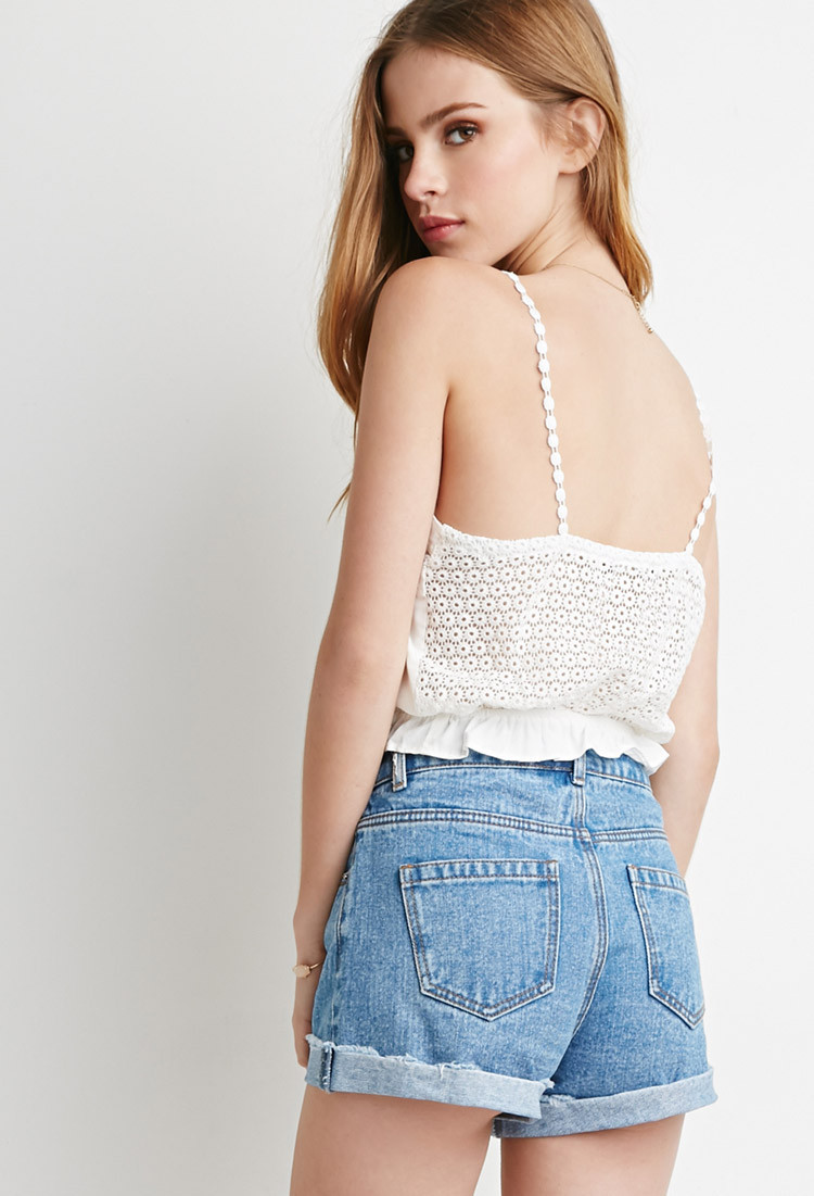 Crochet Crop top forever 21 Inspirational Lyst forever 21 Crocheted Cami Crop top In Natural Of Innovative 40 Images Crochet Crop top forever 21