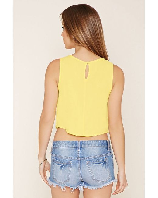 Crochet Crop top forever 21 Luxury forever 21 Crochet Crop top In Yellow Of Innovative 40 Images Crochet Crop top forever 21