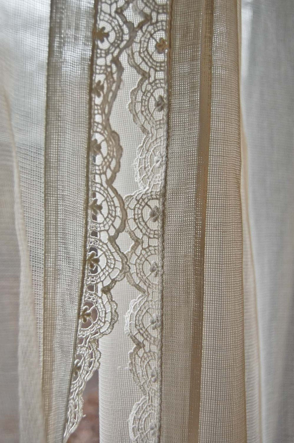 Crochet Curtain Best Of Vintage Pair Of Fine Net Curtains with Crochet Lace Edge Of Adorable 40 Models Crochet Curtain
