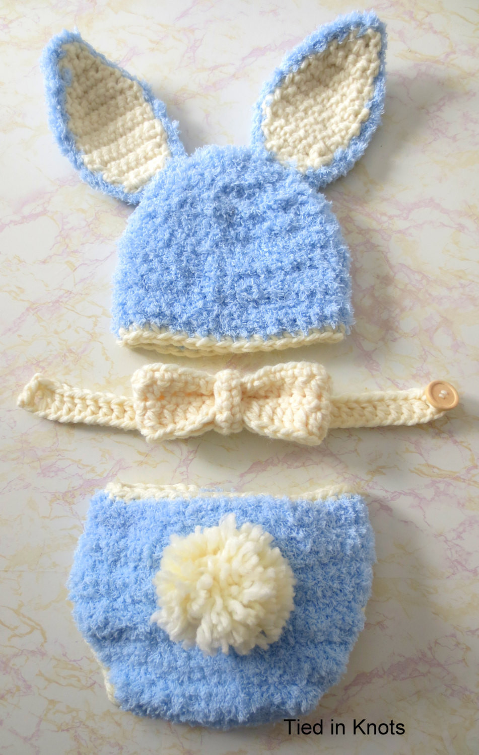 baby bunny crochet hat and diaper cover