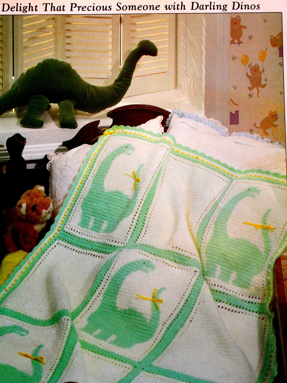 Crochet Dinosaur Blanket Pattern Plus added bonus patterns