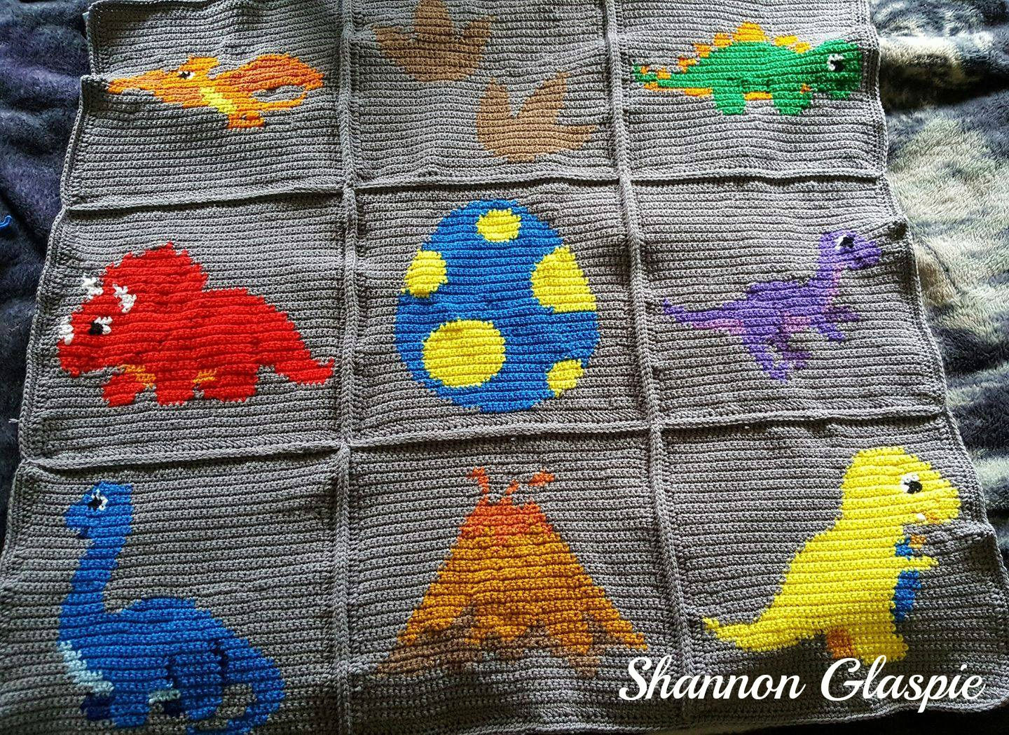 Crochet Dinosaur Blanket Awesome Instant Download Dinosaurs Crochet Graph Crochet Of Awesome 40 Images Crochet Dinosaur Blanket