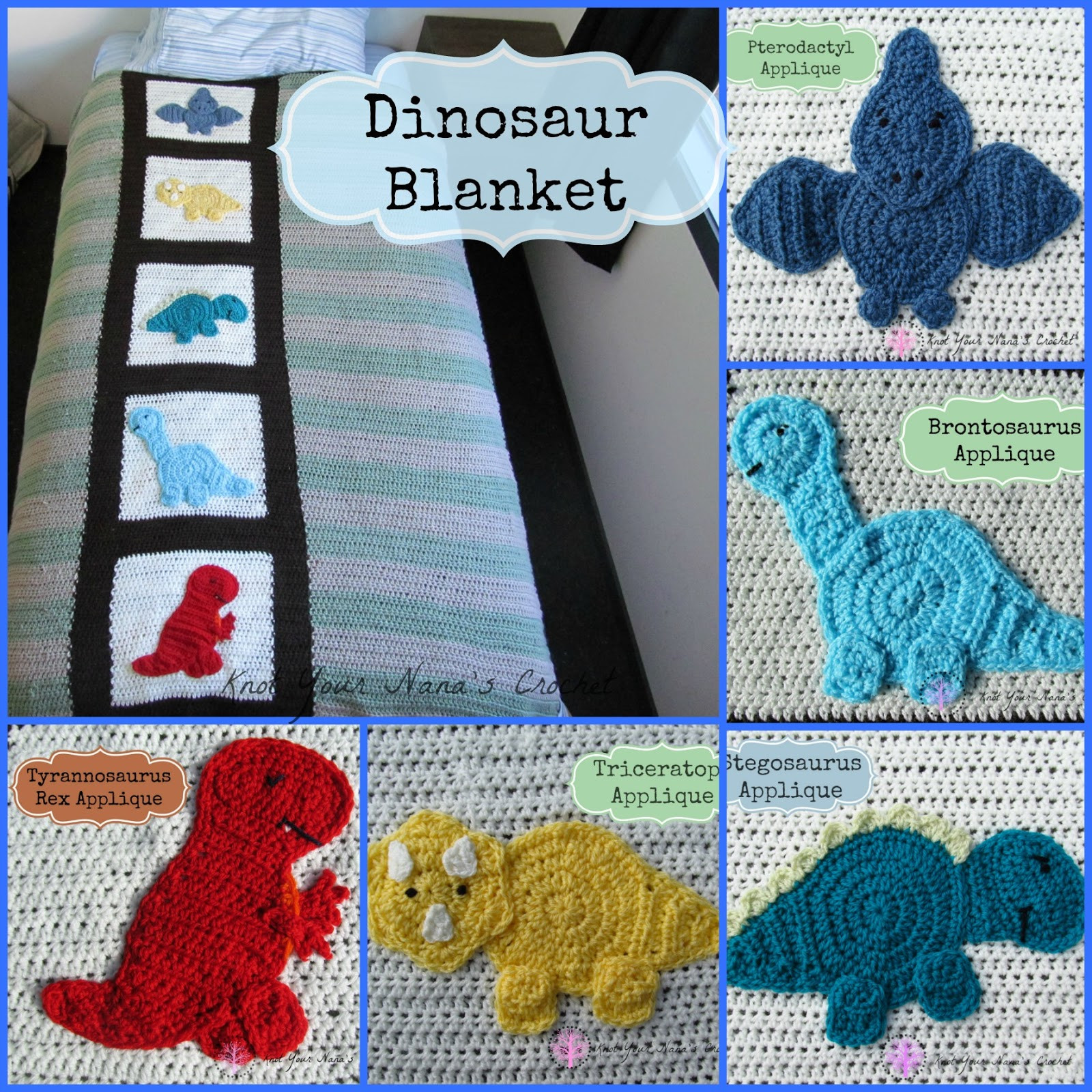 Crochet Dinosaur Blanket Awesome Knot Your Nana S Crochet Crochet Dinosaur Blanket Of Awesome 40 Images Crochet Dinosaur Blanket