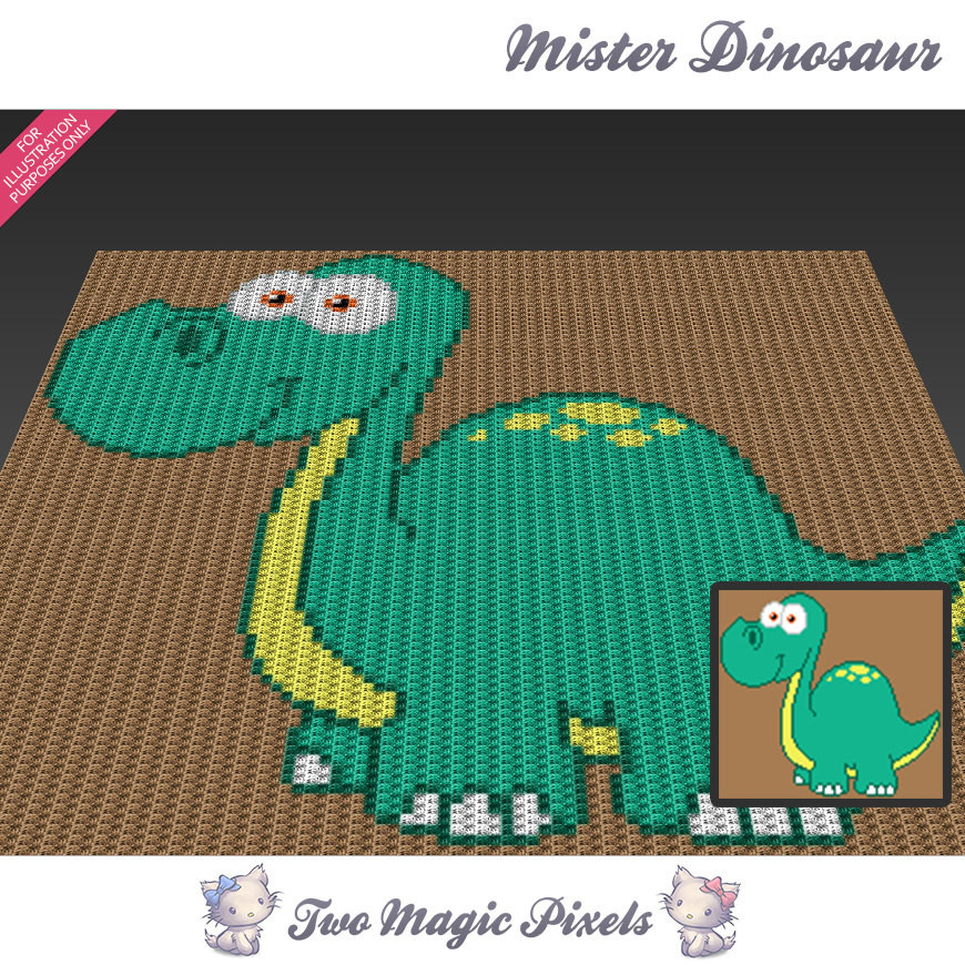 Crochet Dinosaur Blanket Awesome Mister Dinosaur C2c Graph Crochet Pattern Of Awesome 40 Images Crochet Dinosaur Blanket