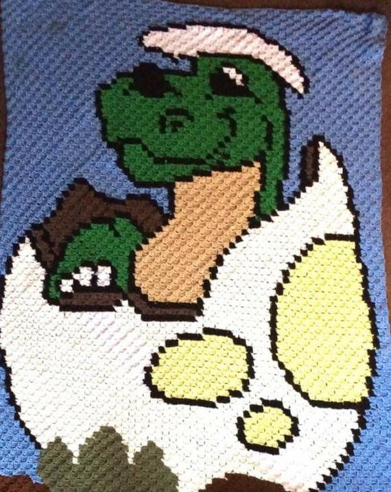 Crochet Dinosaur Blanket Fresh Baby Dino C2c Pattern C2c Graph Baby Blanket Crochet Of Awesome 40 Images Crochet Dinosaur Blanket