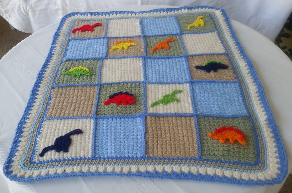 Crochet Dinosaur Blanket Fresh Dinosaur Blanketdinosaur Wall Hangingdinosaur Boys Decor Of Awesome 40 Images Crochet Dinosaur Blanket