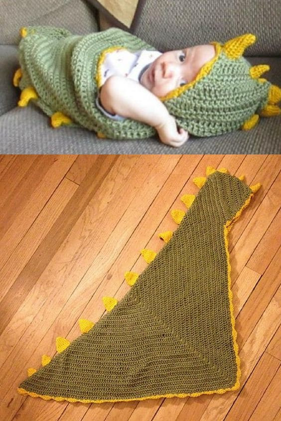 Crochet Dinosaur Blanket Luxury Crochet Hooded Blanket Pattern Pinterest top Pins Of Awesome 40 Images Crochet Dinosaur Blanket
