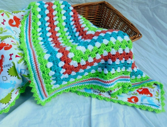 Free Crochet Patterns Dinosaur Afghan Dancox for