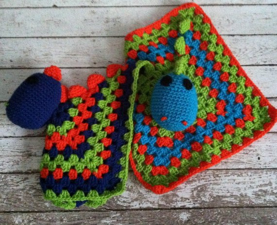Crochet Dinosaur Blanket Unique Items Similar to Crochet Dinosaur Lovey Blanket On Etsy Of Awesome 40 Images Crochet Dinosaur Blanket