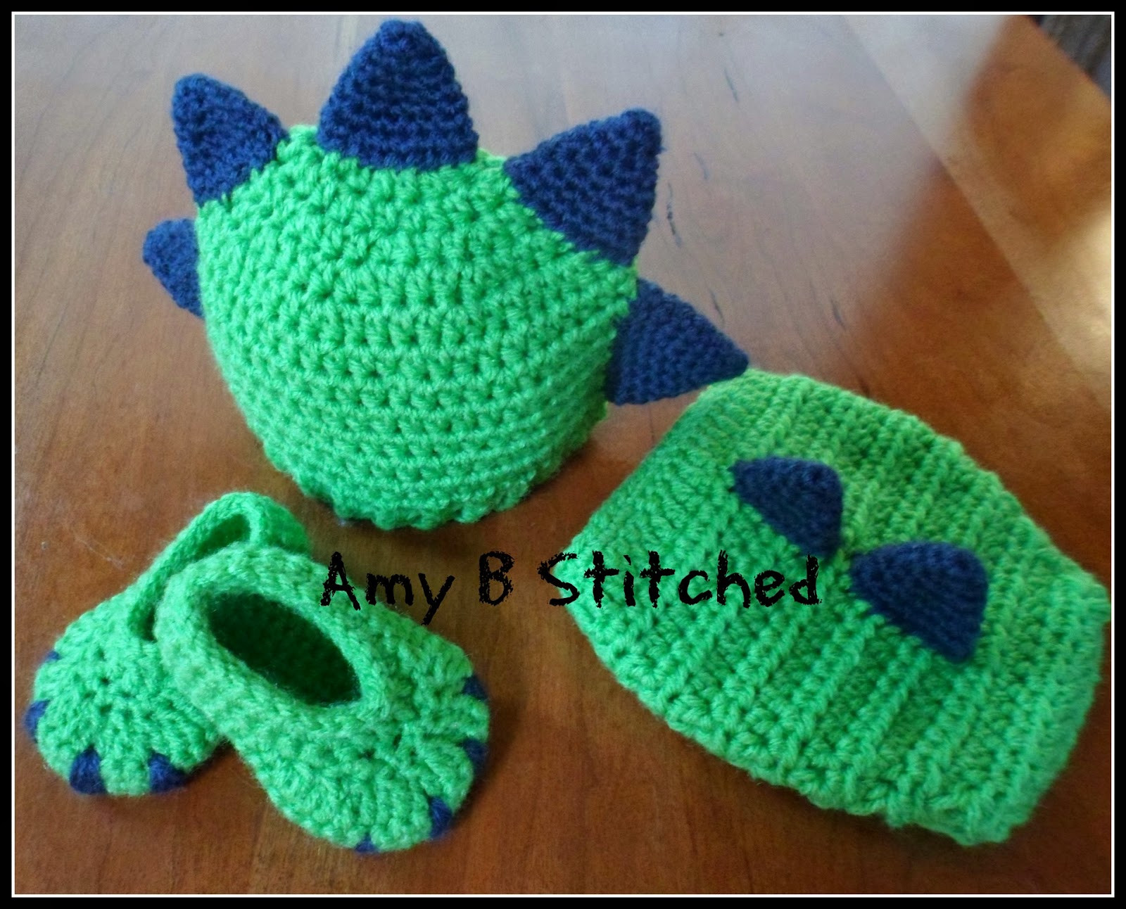 A Stitch At A Time for Amy B Stitched Newborn DINOSAUR