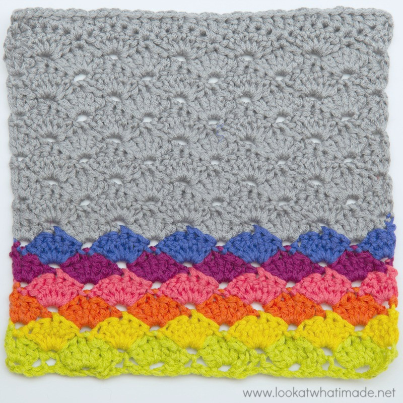 Simple Crochet Shells Dishcloth ⋆ Look At What I Made