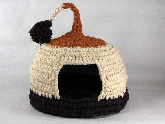 Crochet Dog Beds Awesome Items Similar to Crochet Cat Bed Cat Cave Pet House Tshirt Of Charming 50 Ideas Crochet Dog Beds