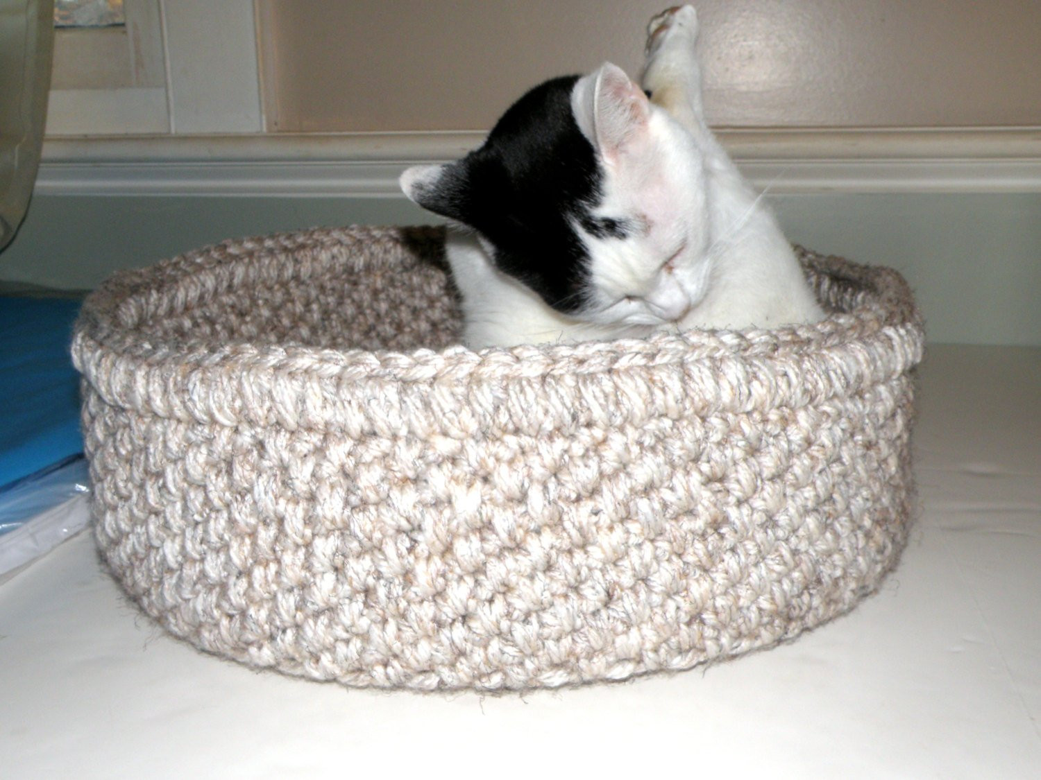 Crochet Dog Beds Best Of Cat Bed Crocheted Travel Pet Bed Round 2 Cat Beds In One Of Charming 50 Ideas Crochet Dog Beds
