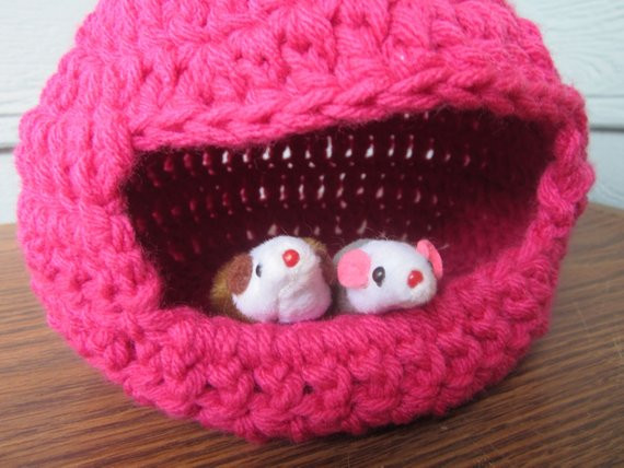 Crochet Dog Beds Luxury Pink Crochet Pet House Collapsible Bed for Mice Gerbils Of Charming 50 Ideas Crochet Dog Beds