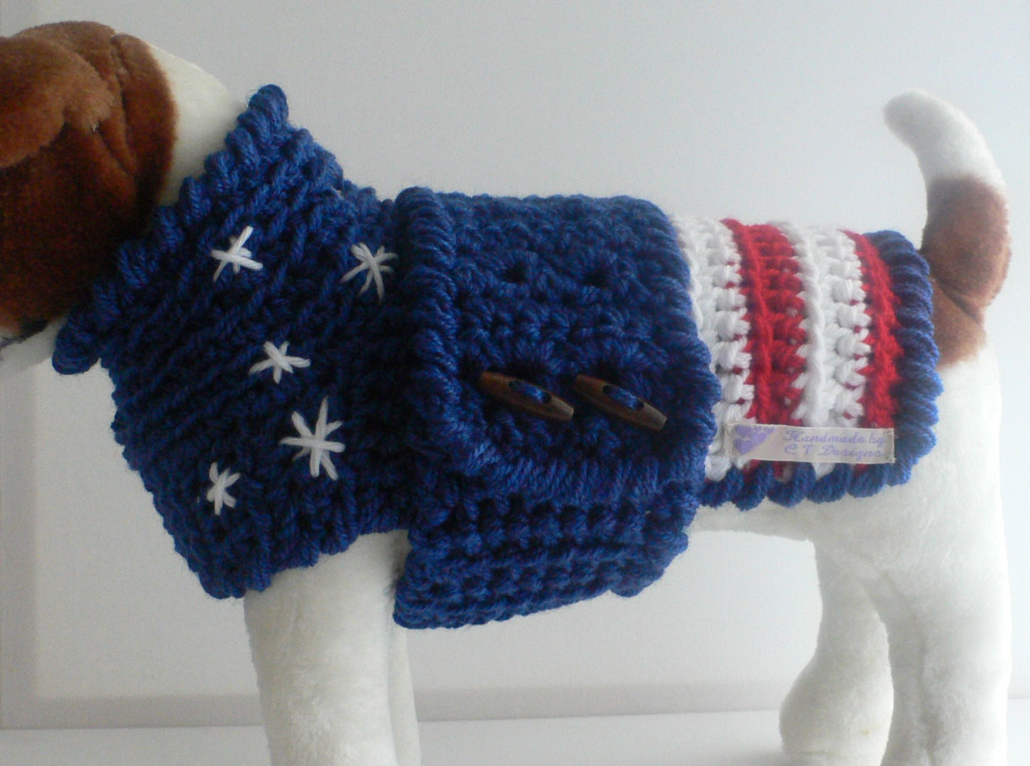Crochet Dog Best Of Crochet Dog Sweater Medium Dog Sweater Patriotic Dog Of Perfect 50 Images Crochet Dog