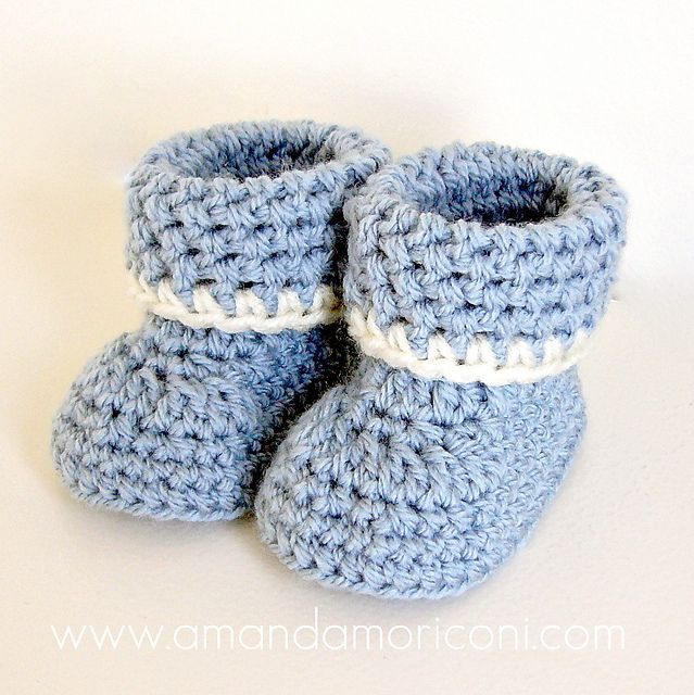 17 Best images about Baby booties crocheted on Pinterest