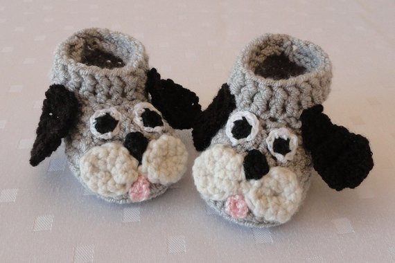 Crochet Dog Booties Beautiful Items Similar to Knit Baby Booties Puppy Dog Crochet Baby Of Charming 34 Photos Crochet Dog Booties