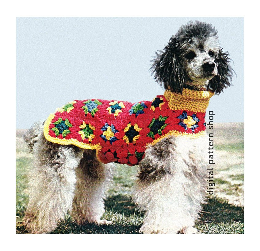 Crochet Dog Coat Pattern Luxury Crochet Dog Sweater Pattern Granny Square Dog Coat Crochet Of Marvelous 41 Photos Crochet Dog Coat Pattern