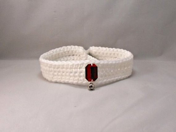 Crochet Dog Collar Unique Crochet White Dog Cat Collar with Red Gem Of Gorgeous 50 Ideas Crochet Dog Collar