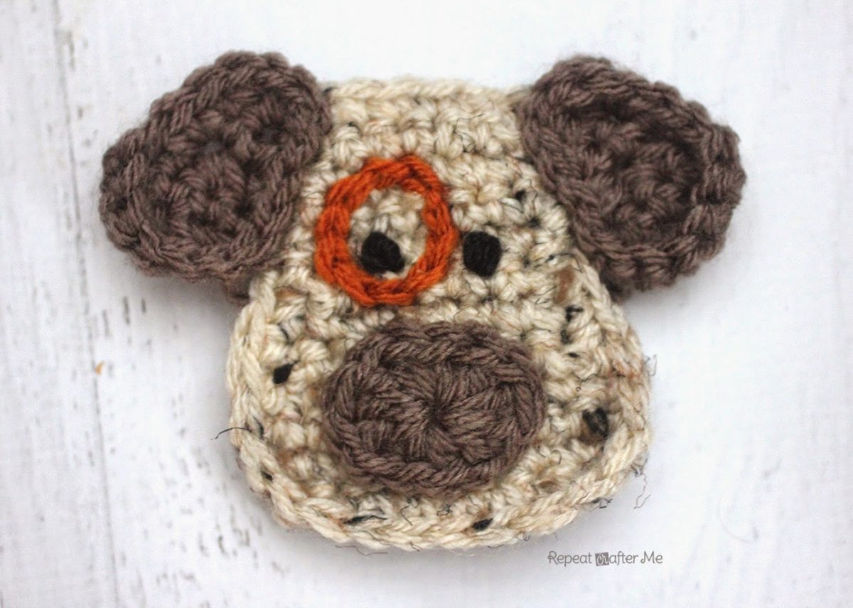 Crochet Dog Inspirational D is for Dog Crochet Dog Applique Repeat Crafter Me Of Perfect 50 Images Crochet Dog