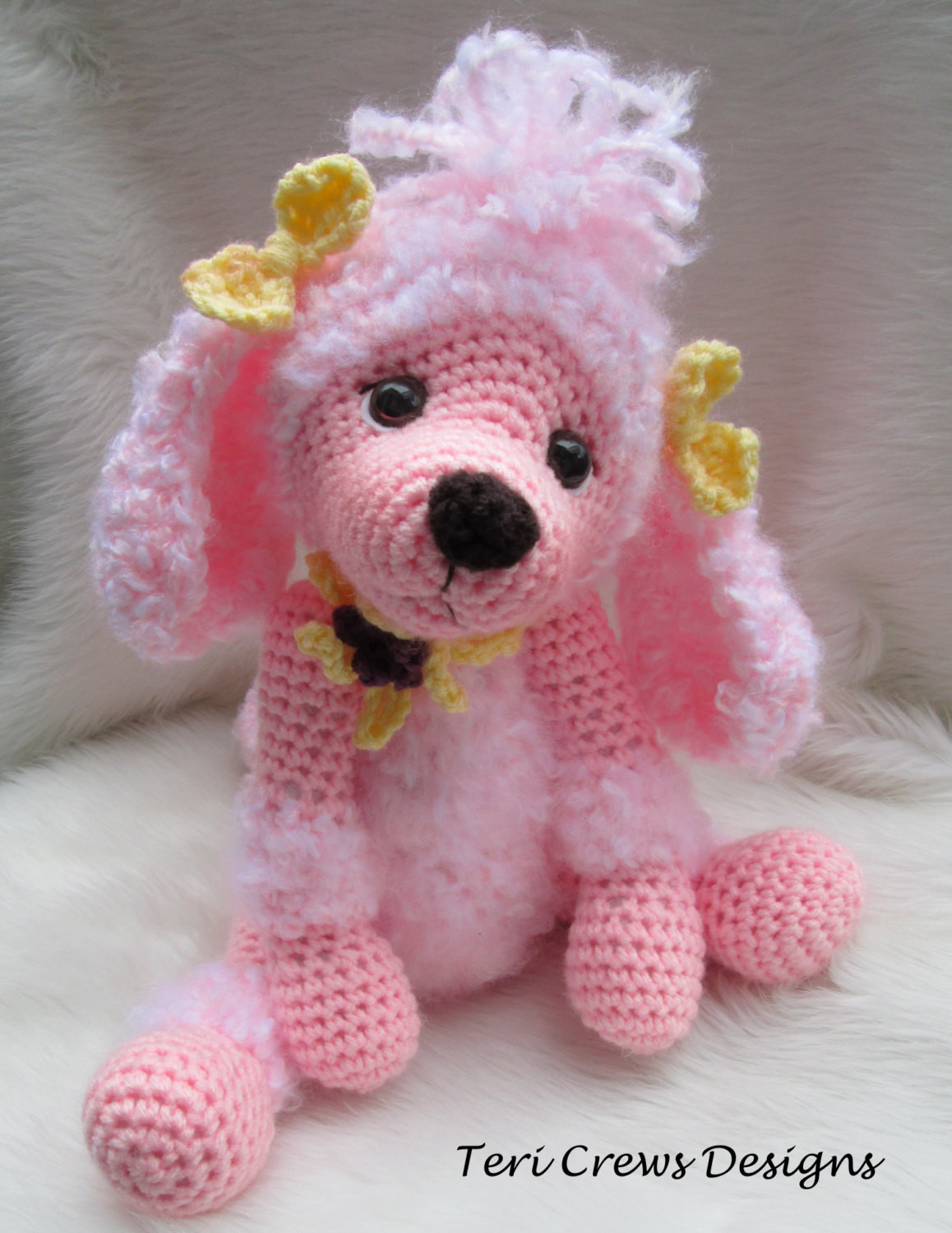 Crochet Dog Lovely Crochet Pattern Poodle Dog by Teri Crews Instant Of Perfect 50 Images Crochet Dog