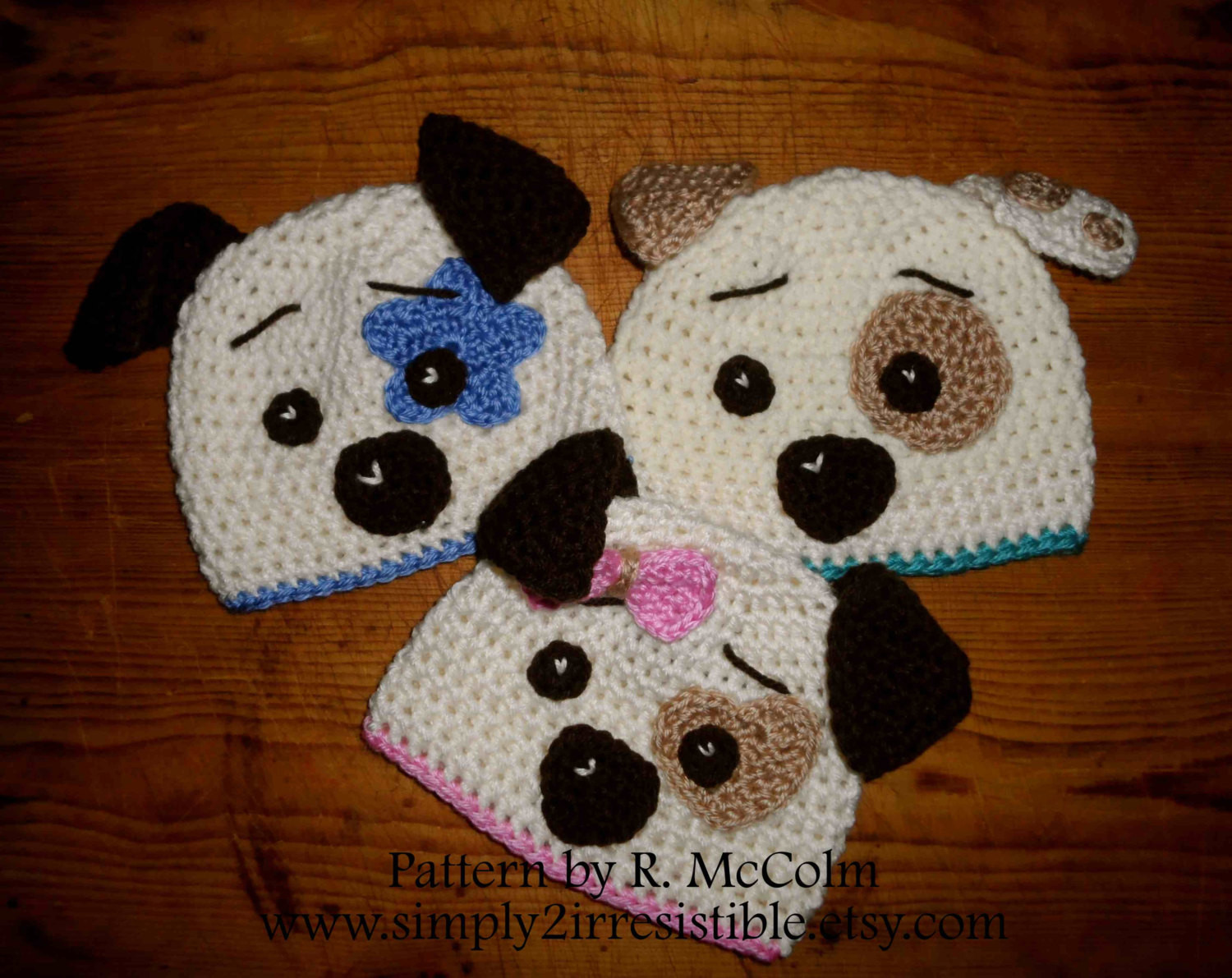 Hound Dog Hat Crochet Pattern 19 Beanie and Earflap