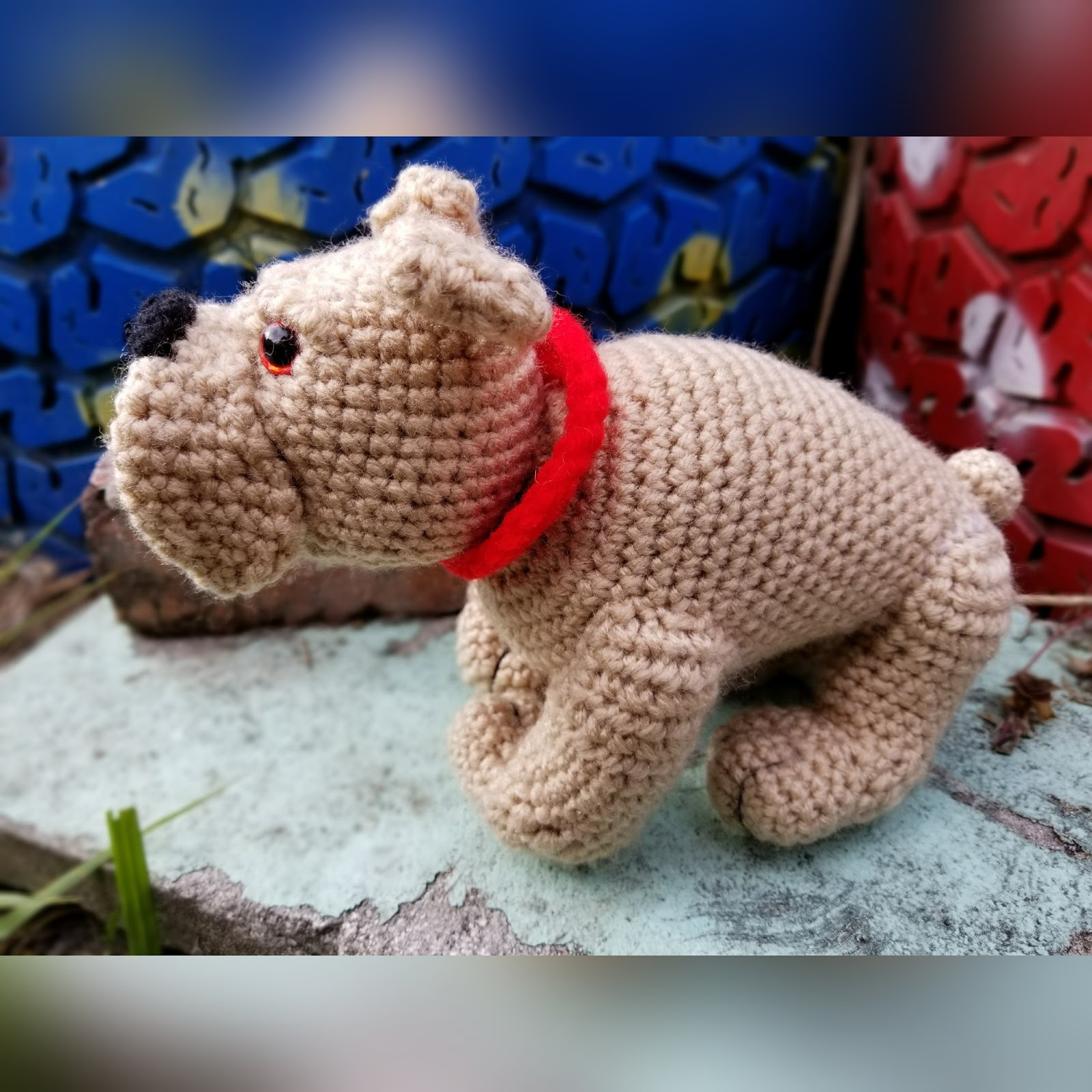 Crochet Dog Pattern Beautiful Mommy Made Crochet Thom the Devil Dog English Bulldog Of Brilliant 41 Images Crochet Dog Pattern