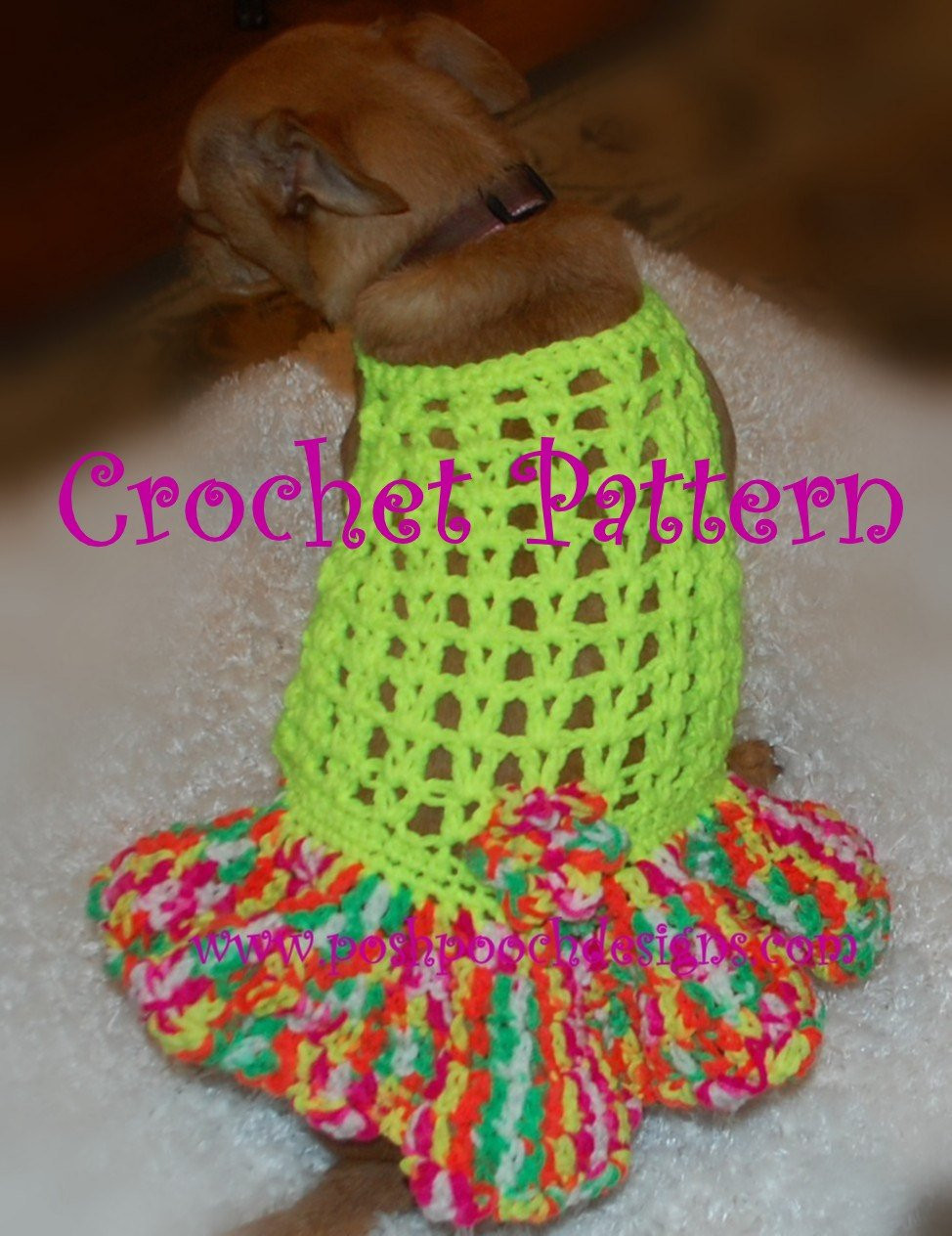 Crochet Dog Pattern Best Of Instant Download Crochet Pattern Halter Dog Dress with Of Brilliant 41 Images Crochet Dog Pattern
