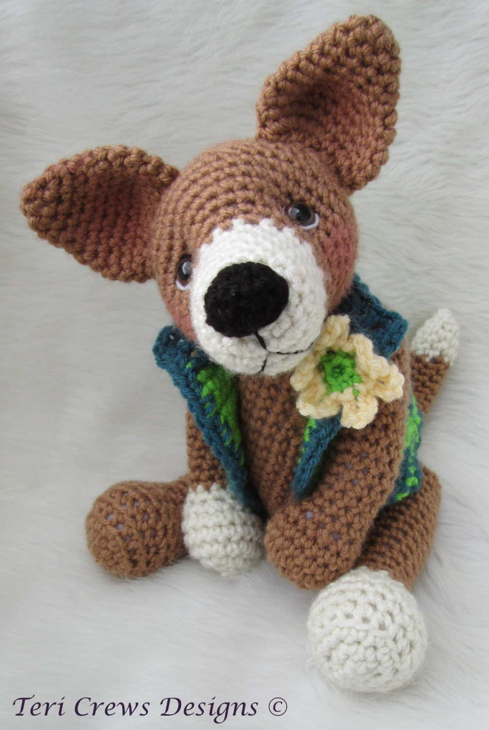 Crochet Dog Pattern Lovely Crochet Pattern Chiwawa Dog by Teri Crews Instant Pdf Of Brilliant 41 Images Crochet Dog Pattern
