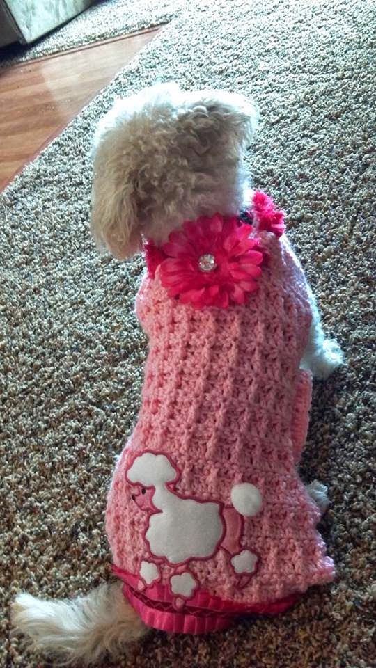 The Crafting Secretary A Blinged Up Crochet Dog Sweater