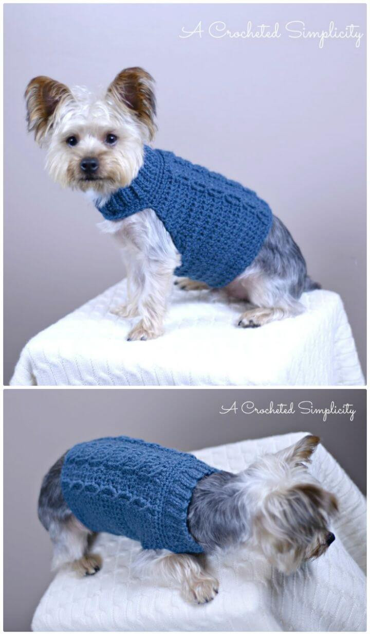 Crochet Dog Sweater Pattern Fresh 26 Free Crochet Patterns for Pets to Make their Life Of Marvelous 47 Images Crochet Dog Sweater Pattern