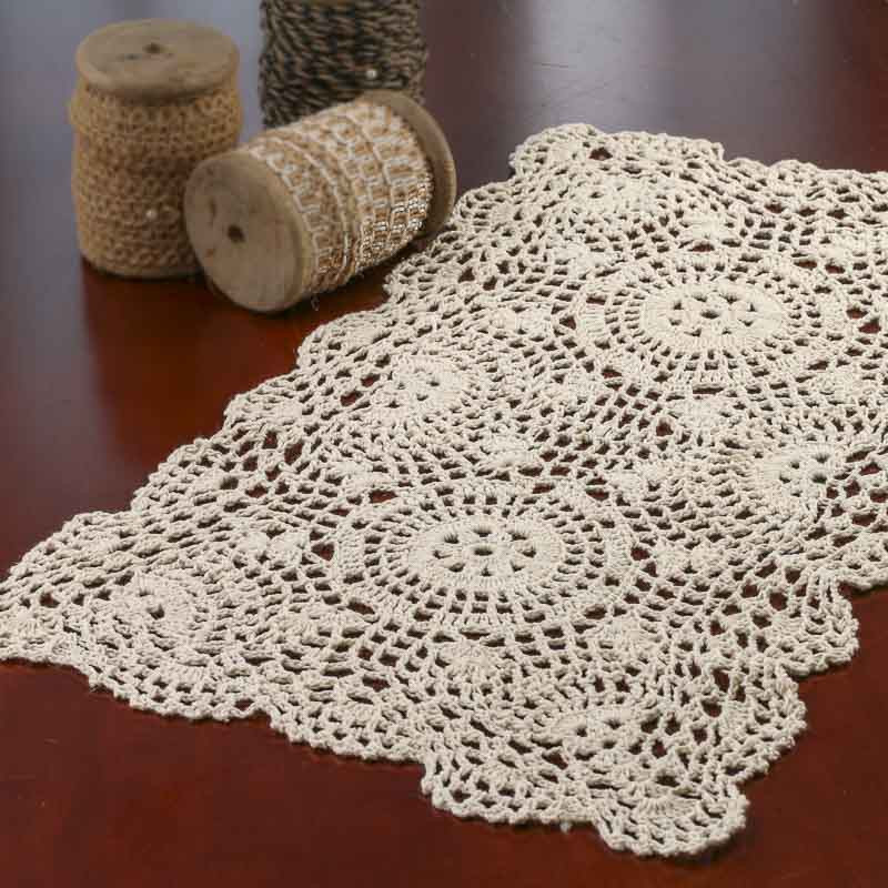 Crochet Doilies Beautiful Ecru Oblong Crocheted Doily Crochet and Lace Doilies Of Incredible 43 Ideas Crochet Doilies