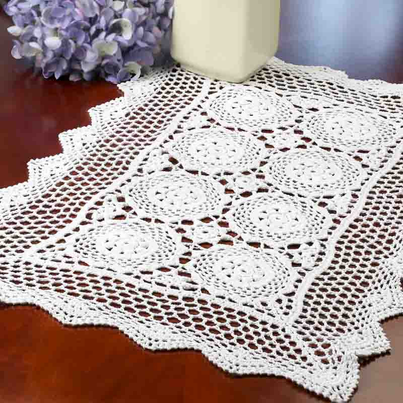 Crochet Doilies New White Rectangular Crocheted Doily Crochet and Lace Of Incredible 43 Ideas Crochet Doilies